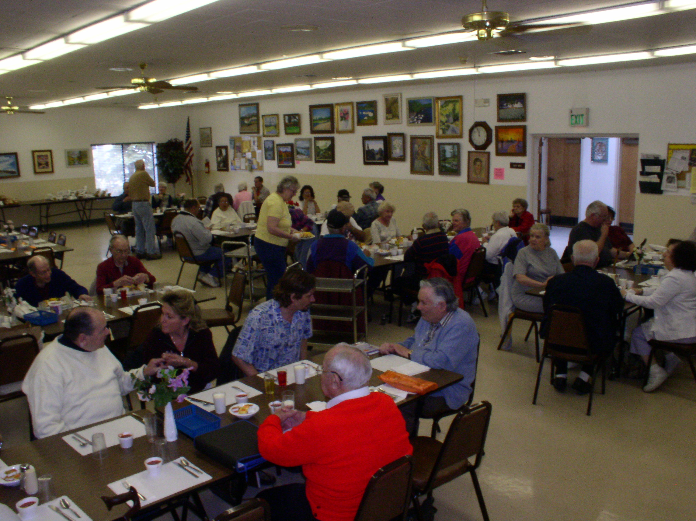 People eating lunch at Senior Center