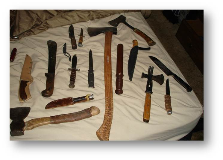 Weapons from Juggalo gang case