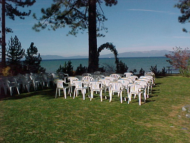 Wedding setup at Regan Beach West