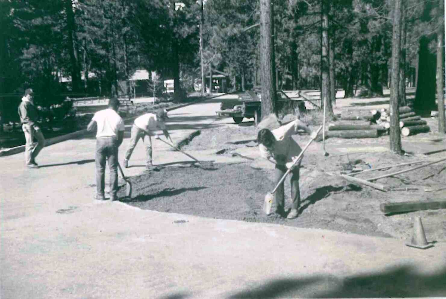 Men working on Campground by the Lake 1981