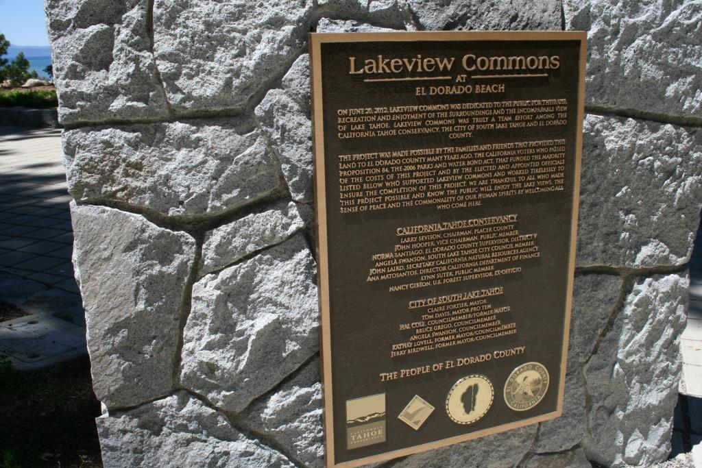 Lakeview Commons plaque