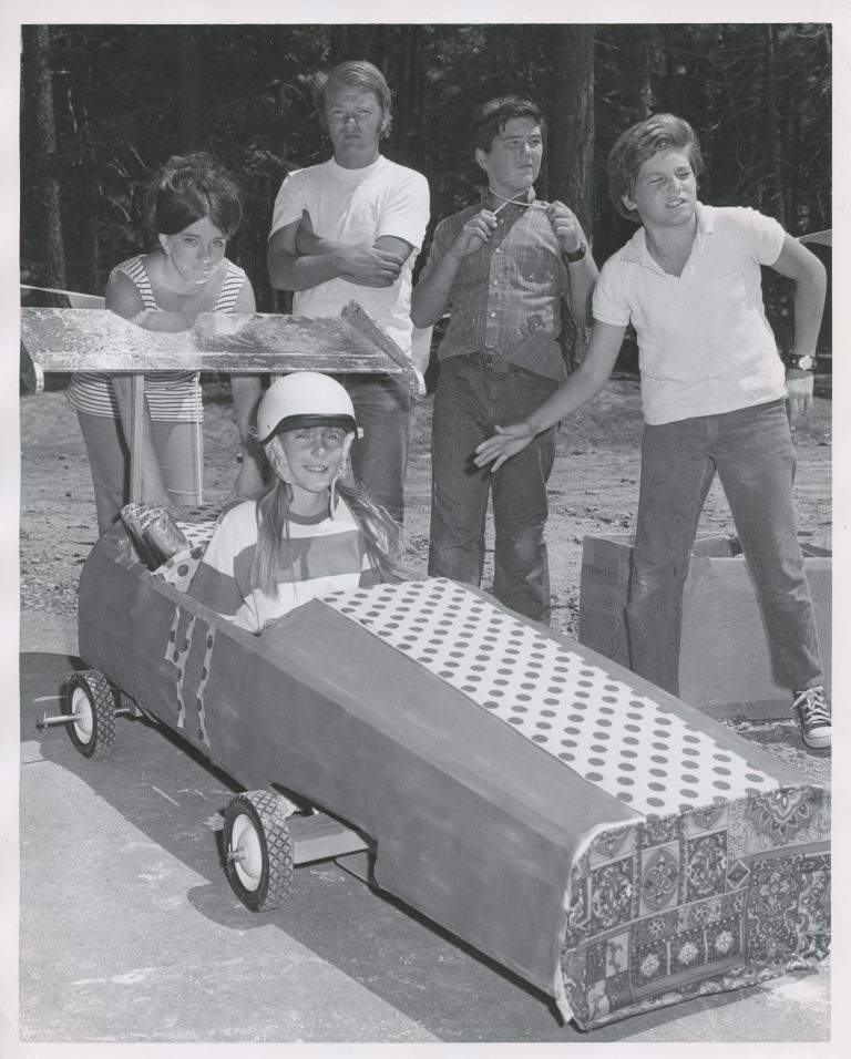 1971 Parks and Recreation Youth with Go Cart