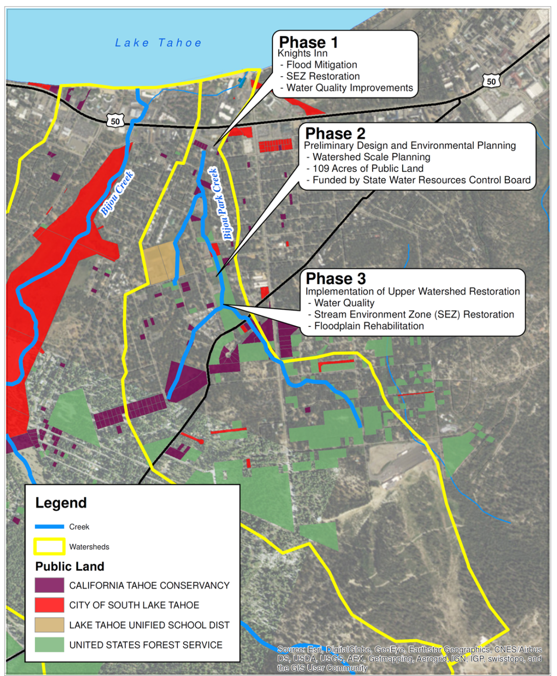 Bijou Creek Restoration Map