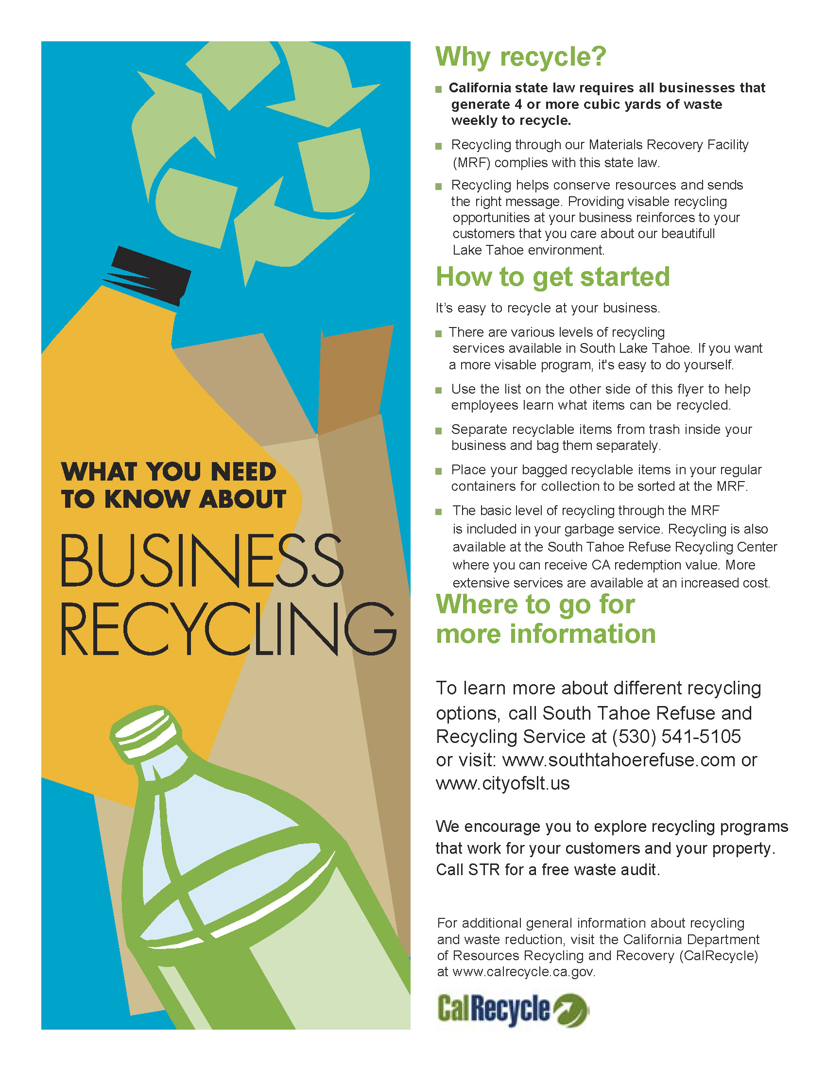 Business Recycling flyer