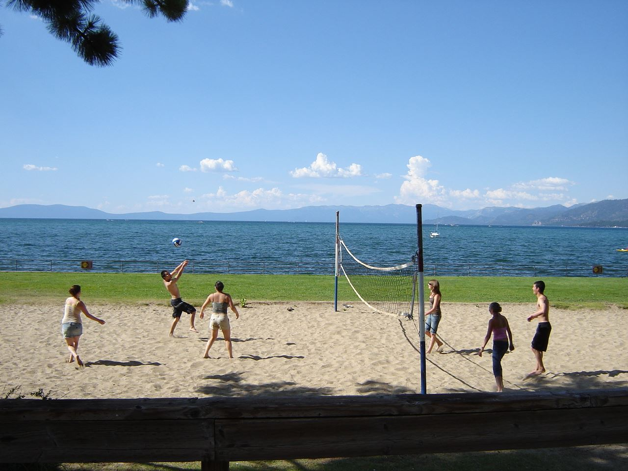regan beach - volleyball