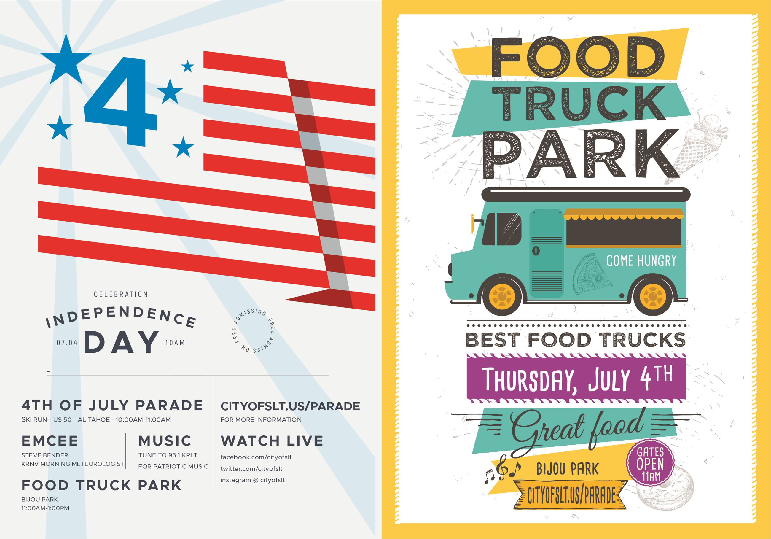 4TH O JULY PARADE AND FOOD TRUCK AD
